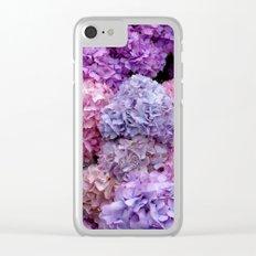 Spring Hydrangeas 2 Clear iPhone Case