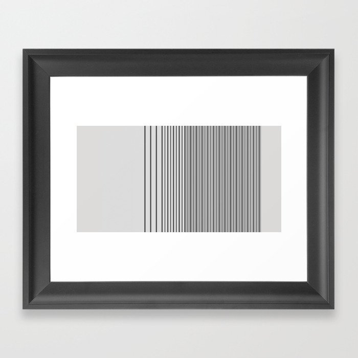 Gradient-A. Framed Art Print