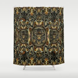 K-108 Abstract Lighting Abstract Shower Curtain