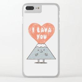 I Lava You 2 Clear iPhone Case