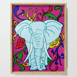 Elephante colorful hand painted Serving Tray