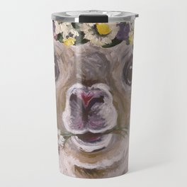 Holly The Alpaca, Alpaca Art Travel Mug