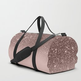 Rose Gold Glitter Ombre Duffle Bag