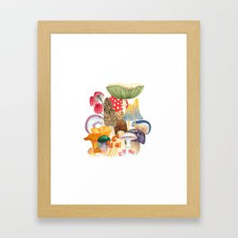 Woodland Mushroom Society Framed Art Print