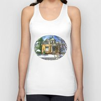 matty healy Tank Tops featuring The Little Brown House by Shelley Ylst Art