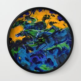 Horse Riders in the Autumn Sea Wall Clock