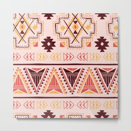 Pink tribal pattern Metal Print
