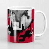 dramatical murder Mugs featuring Murder by Iribú
