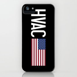 HVAC: HVAC & American Flag iPhone Case