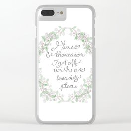 Salt and  Flowers 1 ~ Be the reason Clear iPhone Case