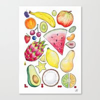 fruits Canvas Prints featuring Fruits by Hacklock