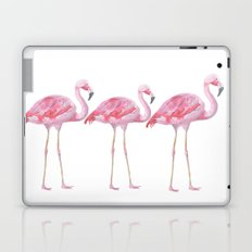 Flamingo - bird - animal on white backround Laptop & iPad Skin