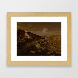 Methane River on Titan Framed Art Print