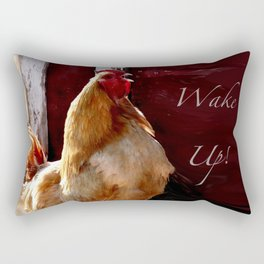 Wake Up! Rooster Rectangular Pillow