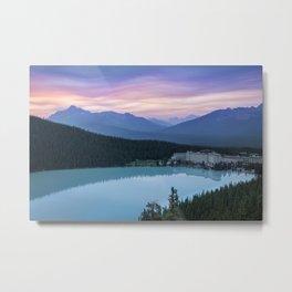 Lake Louise Sunset Metal Print