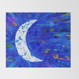 Glitter Crescent Moon Phase Throw Blanket
