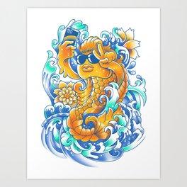 Selfie-ish Fishtail-ish Art Print
