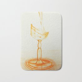 Orange Glass Bath Mat