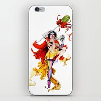 actor iPhone & iPod Skins featuring Cracked Actor by Ashleigh Hungerford
