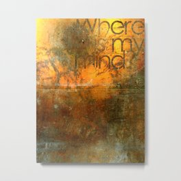 Where Is My Mind? Metal Print