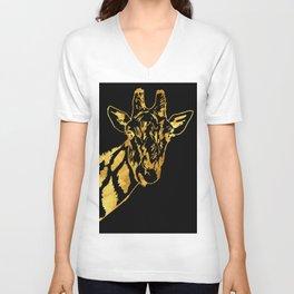 Golden Giraffe Unisex V-Neck