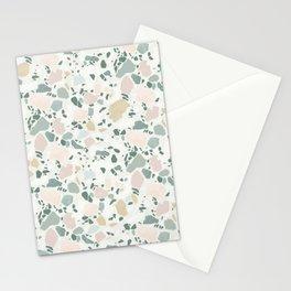 Hardlight terrazzo organic texture Stationery Cards