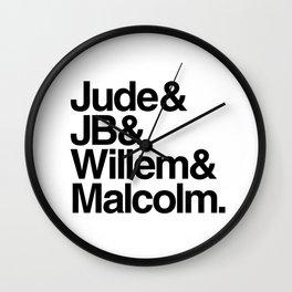 JB & Jude & Willem & Malcolm Wall Clock