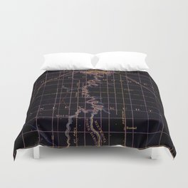 Fargo old map year 1895, united states vintage maps Duvet Cover