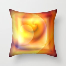 Spiraled Square Abstract Throw Pillow