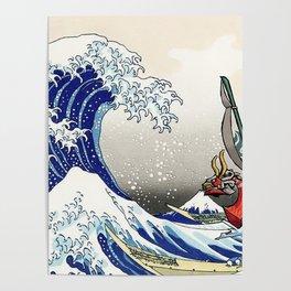 Legend of Zelda Great Wave Windwaker - the great wave off kanagawa Poster