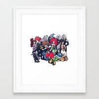 kingdom hearts Framed Art Prints featuring Kingdom Hearts by Jaimie Hutton