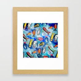 Fishes Ocean current Framed Art Print