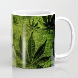 Grunge Pot Leaf design Coffee Mug