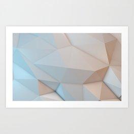 Creamy Low Poly Art Print