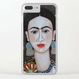 Frida thoughts Clear iPhone Case