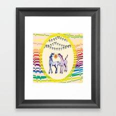 Unicorn Love Framed Art Print