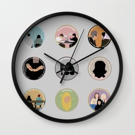 SANA BAKKOUSH: A MINIMALIST STORY Wall Clock