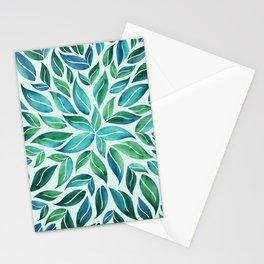 Summertime Blues Leaf Burst Stationery Cards