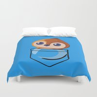 warcraft Duvet Covers featuring Pepe! by SlothgirlArt