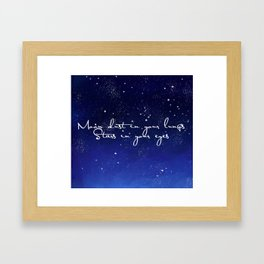 Moon dust in your lungs Framed Art Print