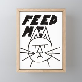 felttipcat - feed me  Framed Mini Art Print