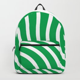 Green and white waved pattern Backpack