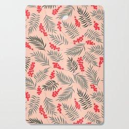 Holiday Mistletoe Pattern Cutting Board