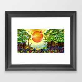 Jungle of colors Framed Art Print