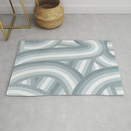 Beachy Blue Stripes Pattern Rug