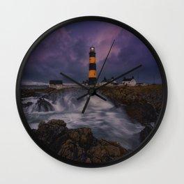 Light Among Waves Wall Clock
