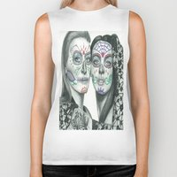 lindsay lohan Biker Tanks featuring Meryl Streep and Lindsay Lohan  by Jimmy Lee