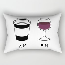 Coffee and Wine Rectangular Pillow