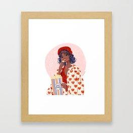Pop-corn and heart jacket Framed Art Print