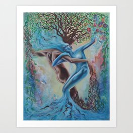 Land and Sea Art Print